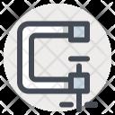 C Clamp Tool Vise Icon