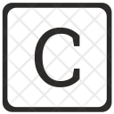 C Uppercase Letter Icon