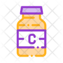 Bottle Vitamin Nutrition Icon