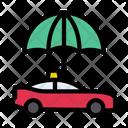 Cab Umbrella Taxi Icon