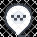Location Taxi Mark Icon