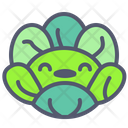 Cabbage Happy Vegetable Icon