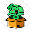 Cabbage Inside Box Cute Cabbage Cute Icon