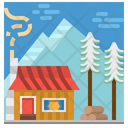 Cabin House Residential Icon