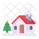 Cabin House Christmas Icon