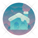Winter Cabin Snow Icon