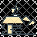 Cabin Hut Wooden Icon
