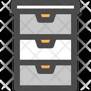 Cabinet Storage Furniture Icon