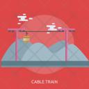 Cable Train Mountain Icon