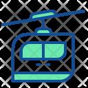 Cable Car Rail Icon