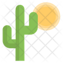 Desert Plant Cactus Hot Weather Icon