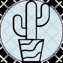 Summer Cactus Nature Icon