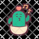 Valentine Cactus Sing Icon