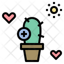 Cactus Growth Love Icon
