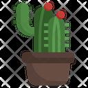 Cactus Plant Dessert Icon