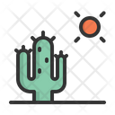 Cactus Hot Summer Icon