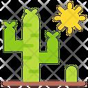 Cactus Desert Sun Icon