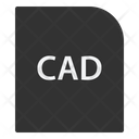 Cad File Document Icon