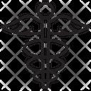 Caduceus Healthcare Snake Icon