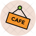 Cafe Signboard Information Icon