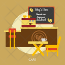 Cafe Building Interior Icon