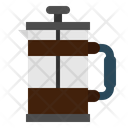 Cafe Food And Restaurant French Press Icon