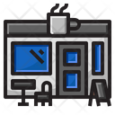 Coffee Label Shop Icon