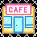 Cafe Building Color Icon