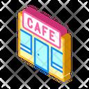 Cafe Building Isometric Icon