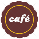 Cafe Sticker Label Icon