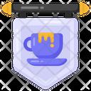 Cafe Label Cafe Board Cafe Emblem Icon