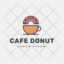 Cafe Donut Icon