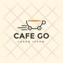 Cafe Go Hot Coffee Cafe Logomark Icon