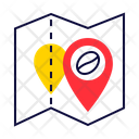 Cafe Location Map Pin Icon