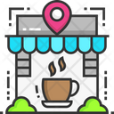 Cafe Location Coffee Shop Cafe Icon