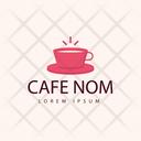Cafe Nom Hot Coffee Cafe Logomark Icon