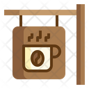 Icoffee Sign Board Icon