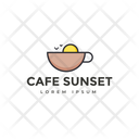 Cafe Sunset Evening Coffee Hot Coffee Icon