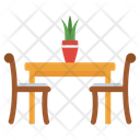 Cafe Table Dining Table Lunchtime Icon