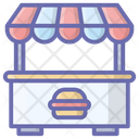 Cafe Table Cafe Stall Cafe Shop Icon