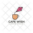 Cafe Wish Hot Coffee Cafe Logomark Icon