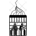 Cage Shark Diving Icon