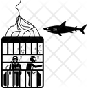 Cage Safety Cage Diver Icon