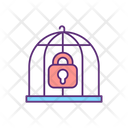 Cage And Lock Bird Cage Bird Box Icon