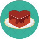 Cake Chocolate Heart Icon