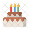 Birthday Cake Candle Celebration Icon