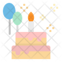 Cake Birthday Piece Icon