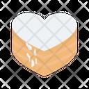 Cake Chocolate Cake Heart Shaped Icon