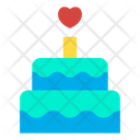 Birthday Cake Celebration Wedding Cake Icon