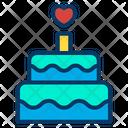 Birthday Cake Celebration Wedding Cake Icon